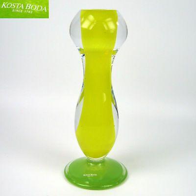 Kosta Boda Glass Candlestick Gunnel Sahlin Design Sweden Swedish Art Glass