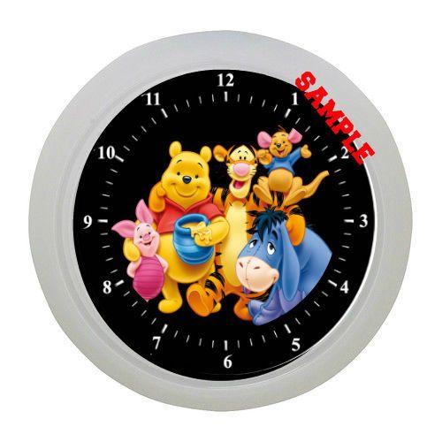 Winnie the pooh clock kids room bedroom deco childs for Kids room clocks