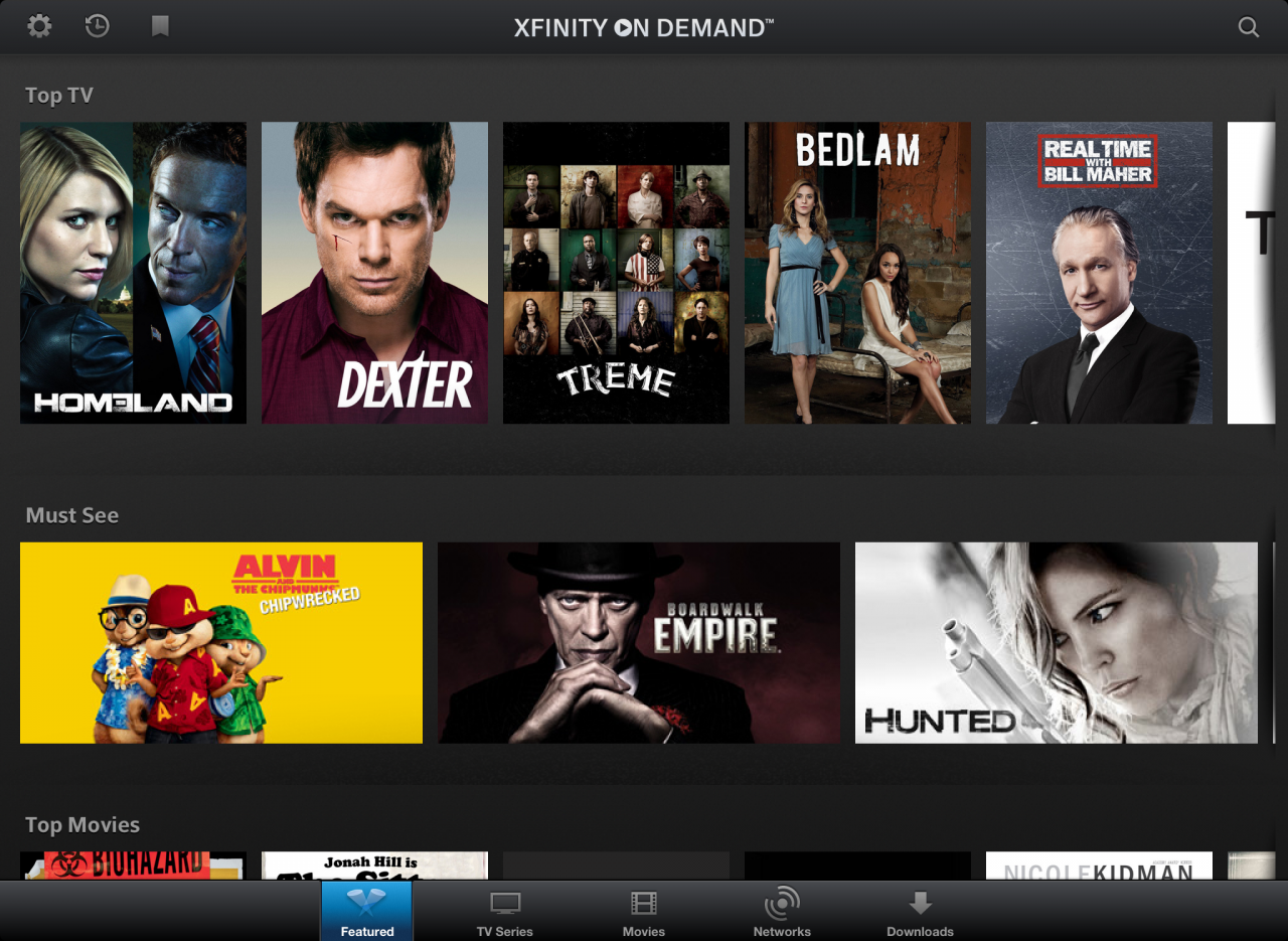 XFINITY TV Player App Adds Showtime, Starz, Encore, MoviePlex