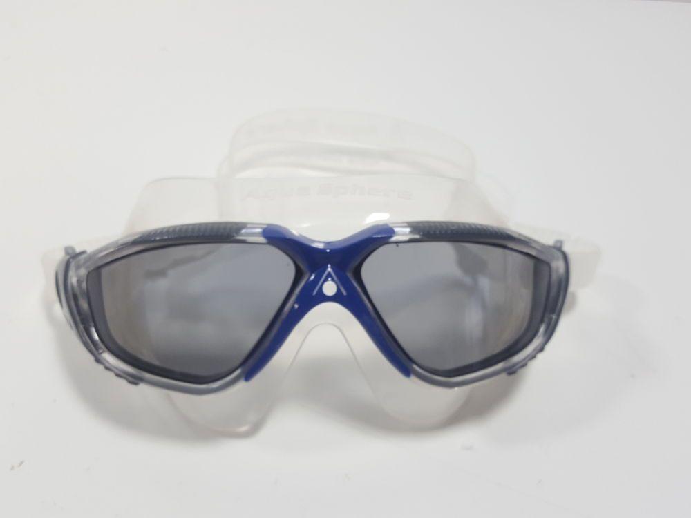 66e9216b5d eBay  Sponsored Aqua Sphere Vista Swim Mask Goggles Smoke Lens Grey Blue  (H203685