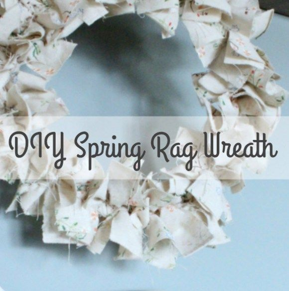 """An """"easy as pie"""" DIY Rag Wreath for Spring 