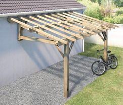 Qu te parece decopato trabajo de madera techo de for Cobertizo de jardin de techo plano de pvc