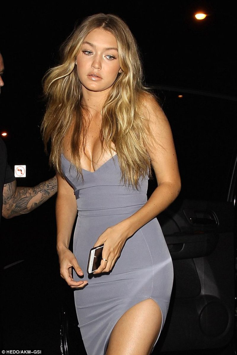 Gigi Hadid seen as she leaving Kylie Jenner\'s 18th birthday party ...