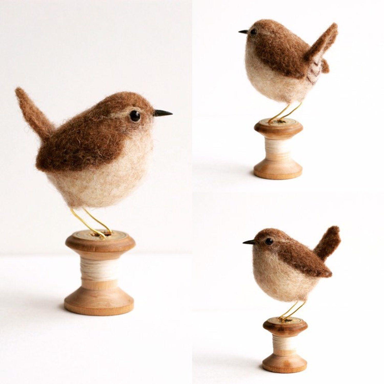 Birdie Needle Felting Kit Bird