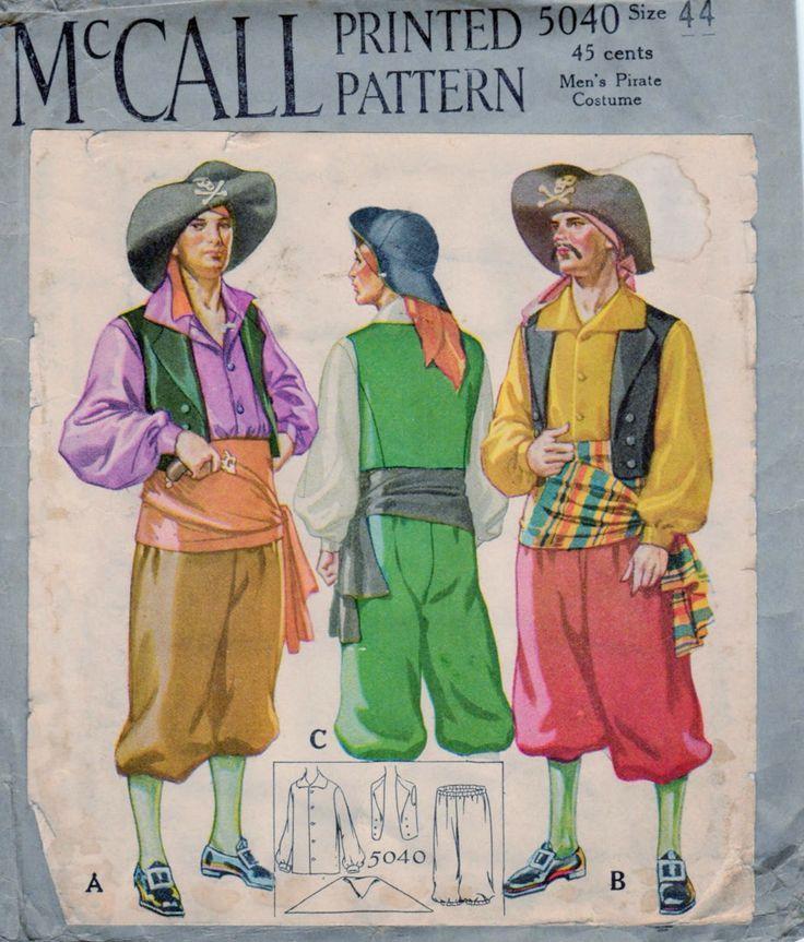 Unbesäumte Schnittmuster: McCall 5040 – Piratenkostüm für Herren aus ...