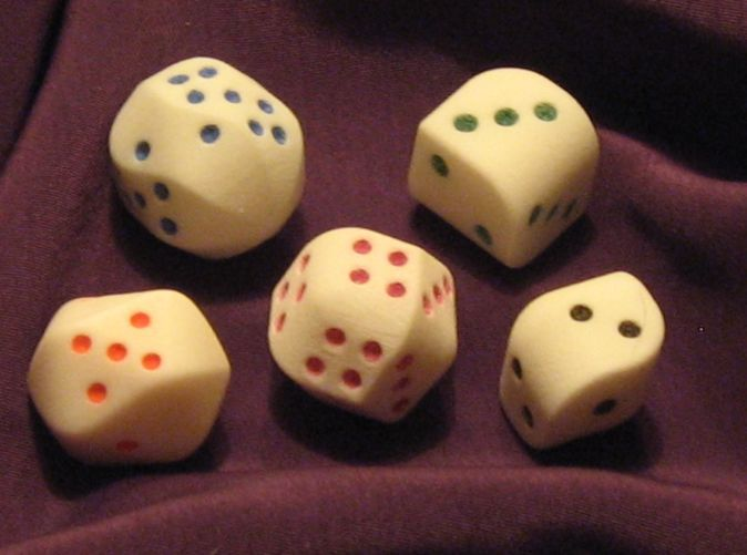 Set Of Dice With Convex Faces Pips By Iwonag On Chicken Pasta