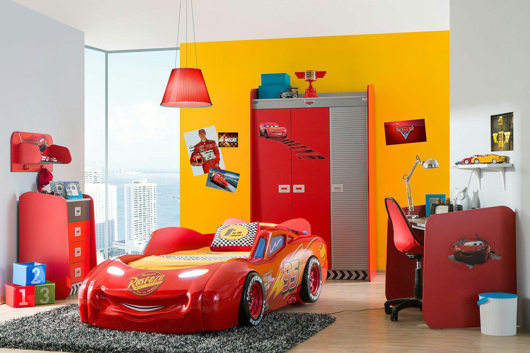 Inspiration chambre garçon cars à essayer avec du bleu et du gris à ...