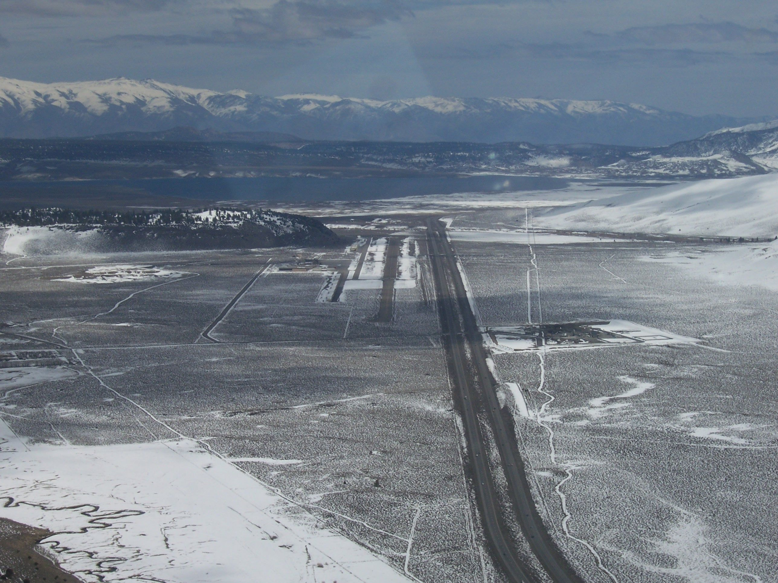 Approaching the Mammoth Lakes Airport just past Mammoth