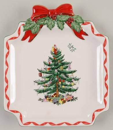Spode Christmas Tree (Green Trim) at Replacements, Ltd JUL