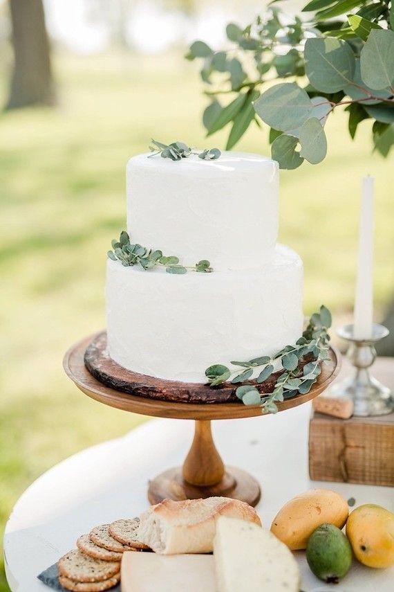 simple white wedding cake | Wedding & Party Ideas