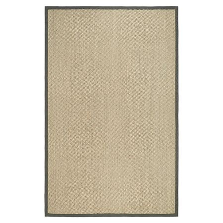 Handcrafted sisal and seagrass rug bordered in gray.   Product: RugConstruction Material: Sisal and seagrass...