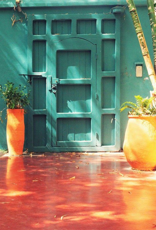 Majorelle Garden - Marrakech, Morocco Doors  gateways Pinterest
