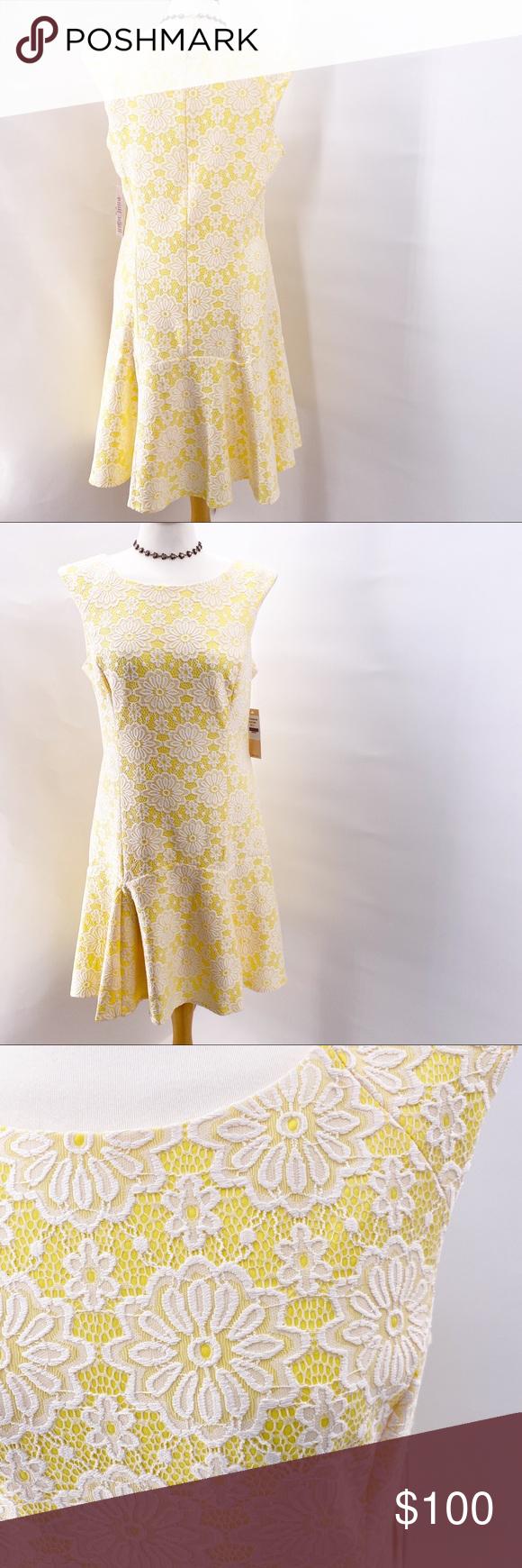 New Nanette Lepore Sleeveless Yellow White Dress Yellow And White Dress Cocktail Dress Lace Purple Long Sleeve Dress [ 1740 x 580 Pixel ]