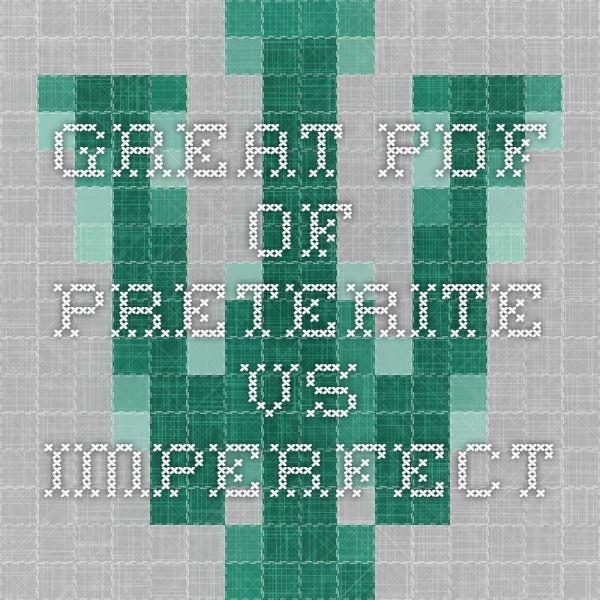 Great pdf of Preterite vs. Imperfect | Spanish 1-3 | Pinterest ...