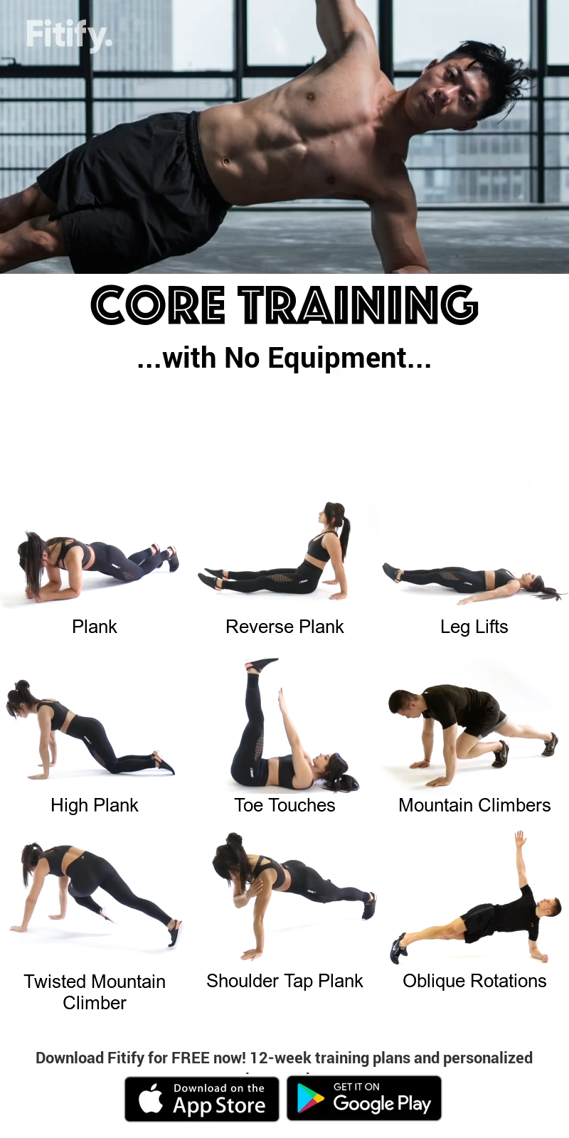 Core Training without Equipment