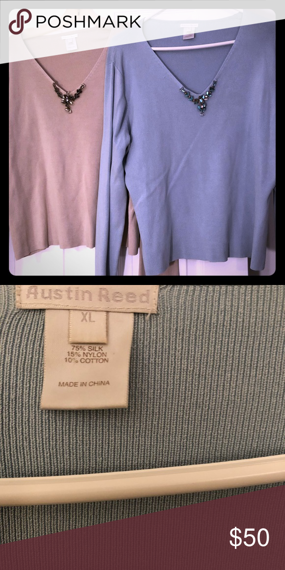 2 Austin Reed 75 Silk Sweaters Silk Sweaters Sweaters Austin Reed