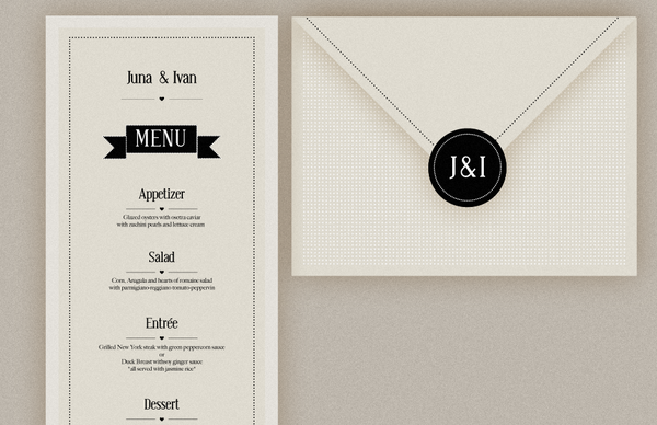 J Wedding Invitation By Filiz Sahin Via Behance