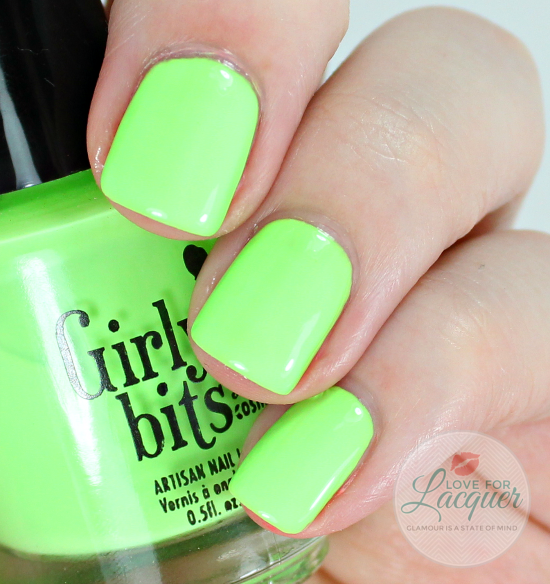 Girly Bits Its Hoop To Be Square, Swatch by Love for Lacquer. Available at www.girlybitscosmetics.com Also available on line at various international stockists.