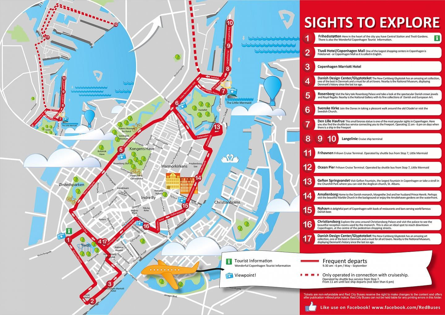 Copenhagen Red Buses HopOn HopOff Sightseeing Travel Ideas