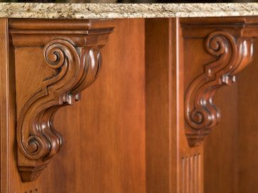 Finely detailed corbels - traditional - family room - - by John F Buchan Homes