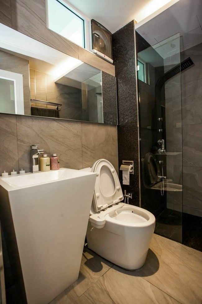stylish and modern condominium bathroom design home