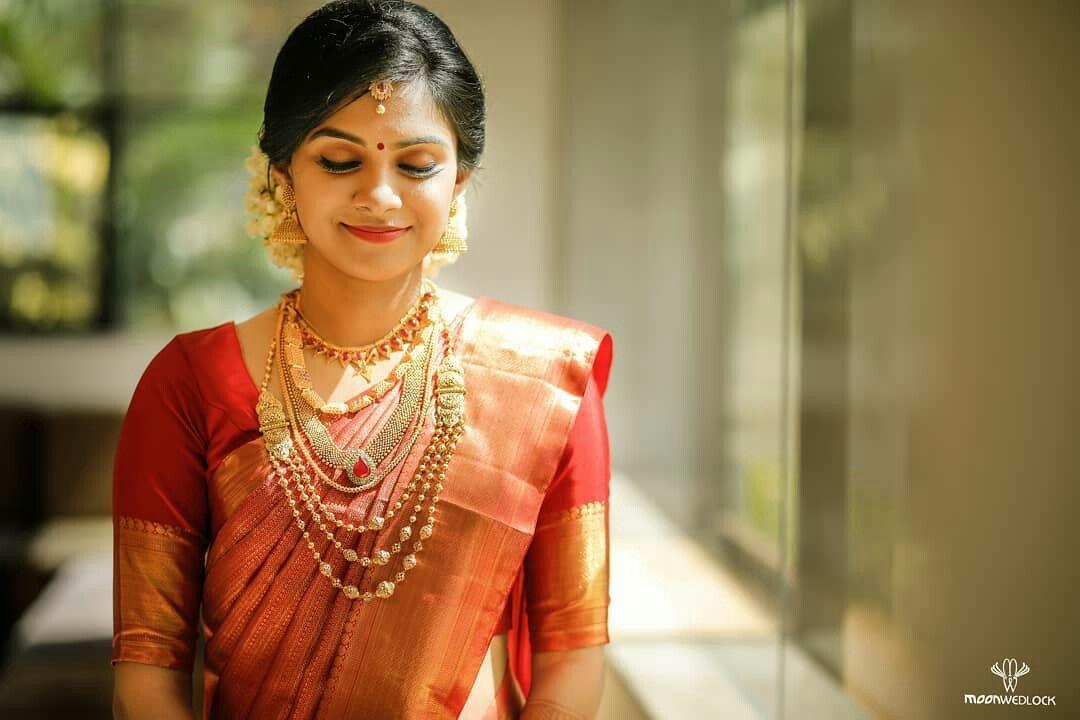 Karthik weds Poorani | Wedding saree collection, Kerala ...