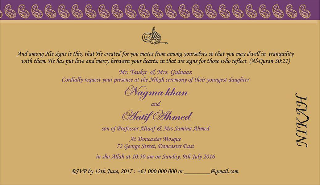 Wedding invitation wording for muslim wedding ceremony muslim wedding invitation wording for muslim wedding ceremony filmwisefo