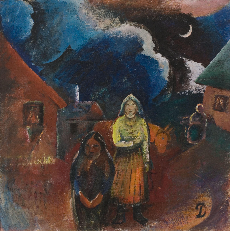 Scenery of Lithuanian Village | Pranas Domsaitis | 1918 ...
