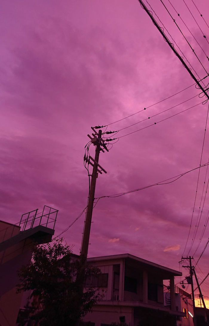 People In Japan Were Admiring The Incredibly Purple Sky, But It's A Sign Of A Typhoon