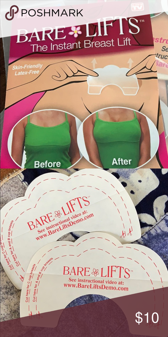 4aaa9078f1e1c Bare Lifts Instant Breast-Lift Tape Brand new breast lift adhesive tape.  These work very well! Each order will come with  💕a set of 2 tapes for an  instant ...
