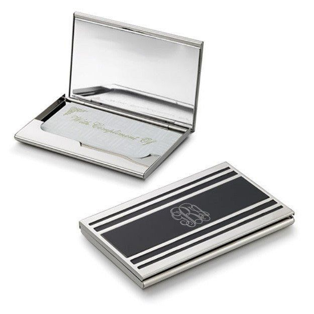 Cove Silver Plated Business Card Case For Ladies Personalized Business Card Case Business Card Holders Business Card Cases