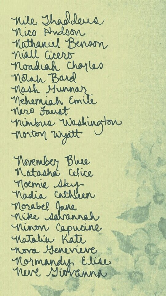Pin by Autumn Kent on Appellation | Baby names, Unique boy