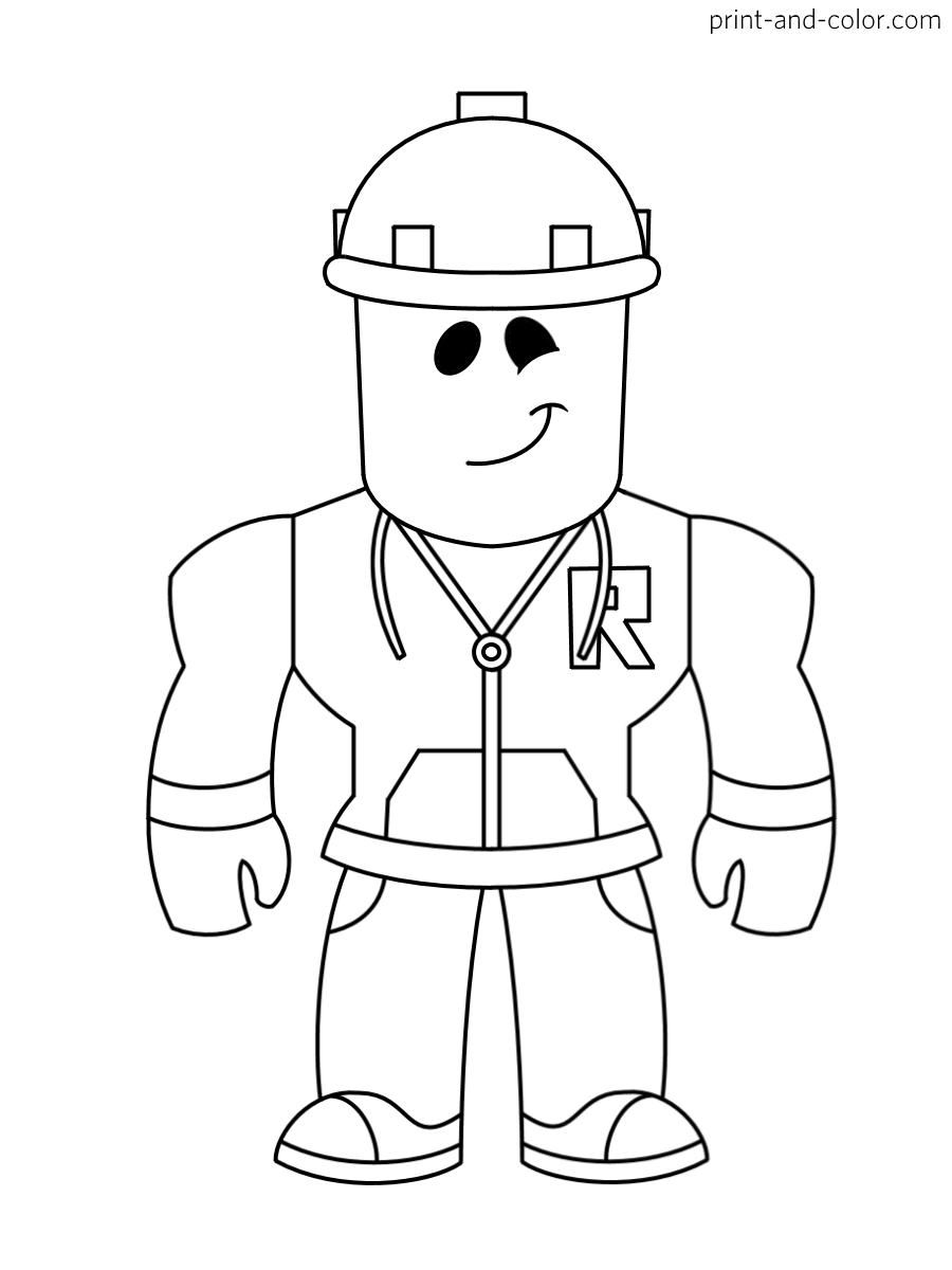 Roblox coloring pages  Print and Color.com  Cartoon coloring