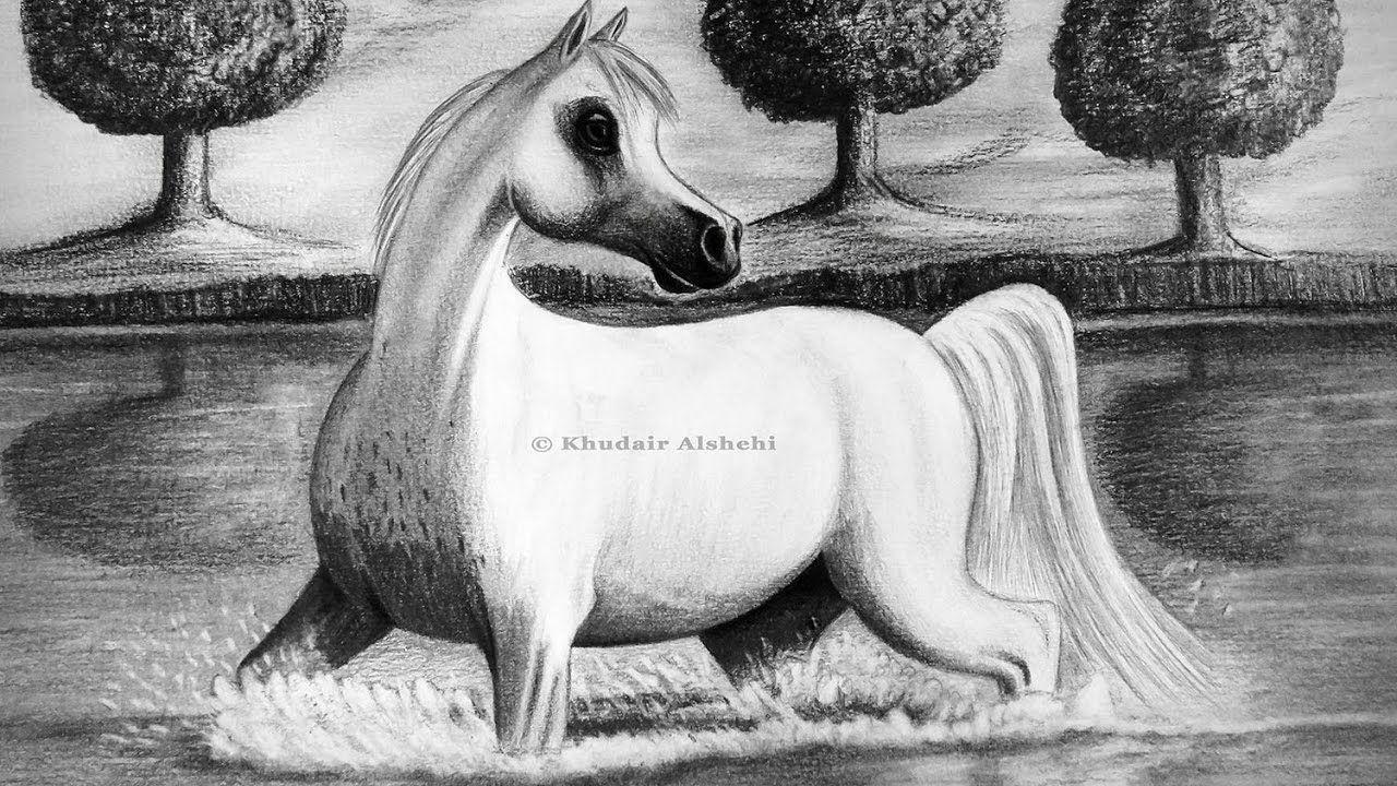 كيفية رسم حصان والمناظر الطبيعية How To Draw A Horse And Landscape Horses Art Moose Art