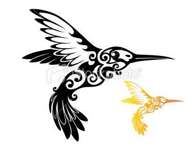 Tribal Hummingbird Hummingbird Tattoo Bird Drawings Birds Tattoo