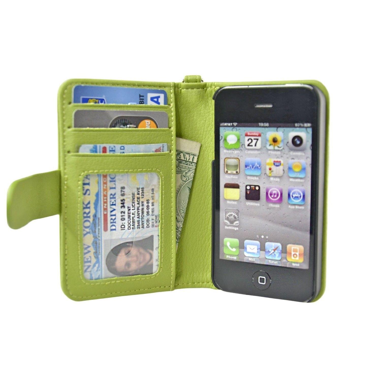 iPhone 4/4S Wallet Case Navor Wallet case, Leather