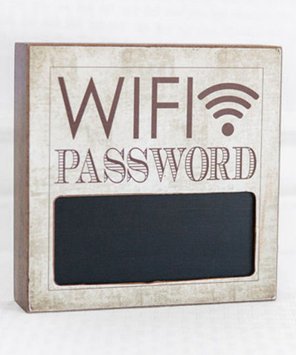Sepia 6'' 'WiFi Password' Chalkboard Block Sign Wifi