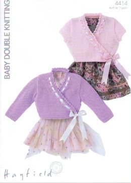 Hayfield Baby DK Baby Girls Cardigan 4414