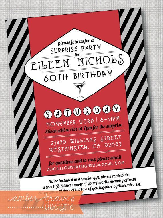 Las Vegas Invitation, Rat Pack Invitation, 1950u0027s Inspired Invite - fresh invitation for birthday party by email