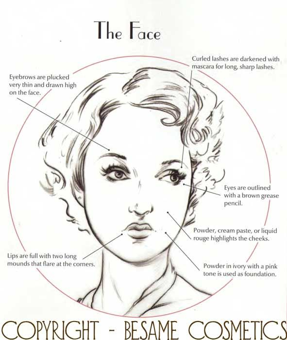 53f98be8d85 The 1930s Face - 6 Top Make-up tips by Gabriella Hernandez | Makeup ...