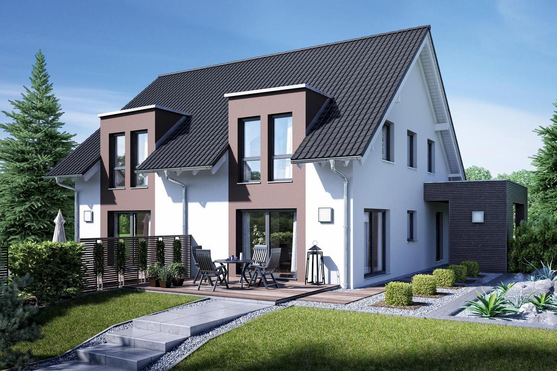 doppelhaus gemello sd 136 fertighaus doppelh user schneckenhaus pinterest fertigh user. Black Bedroom Furniture Sets. Home Design Ideas