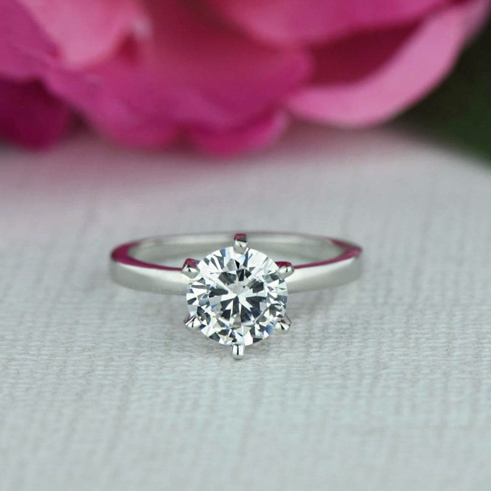 Engagement Rings Newcastle: Sz 10 Or 12: 1.5 Ct Engagement 6 Prong Solitaire Ring, 7mm