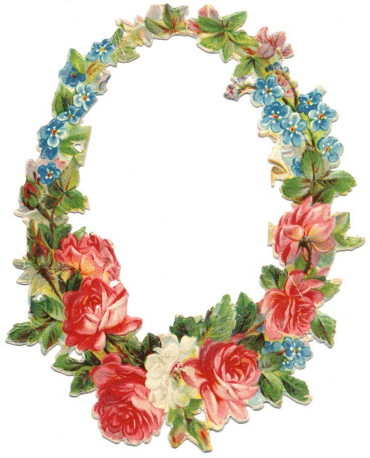 Circle of roses frame | Blumenumrandungen | Rosenbilder ...