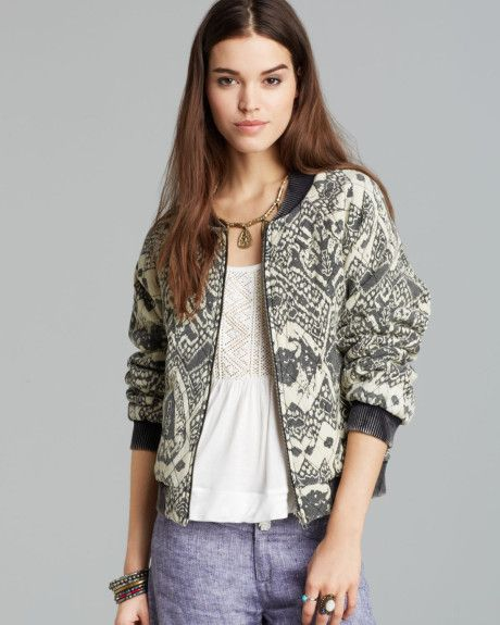 bomber jacket free-people-black-jacket-printed-quilted-bomber