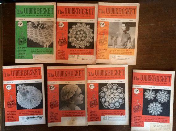 Workbasket Magazine 7 Issues 1953 Home And Needlecraft Magazines
