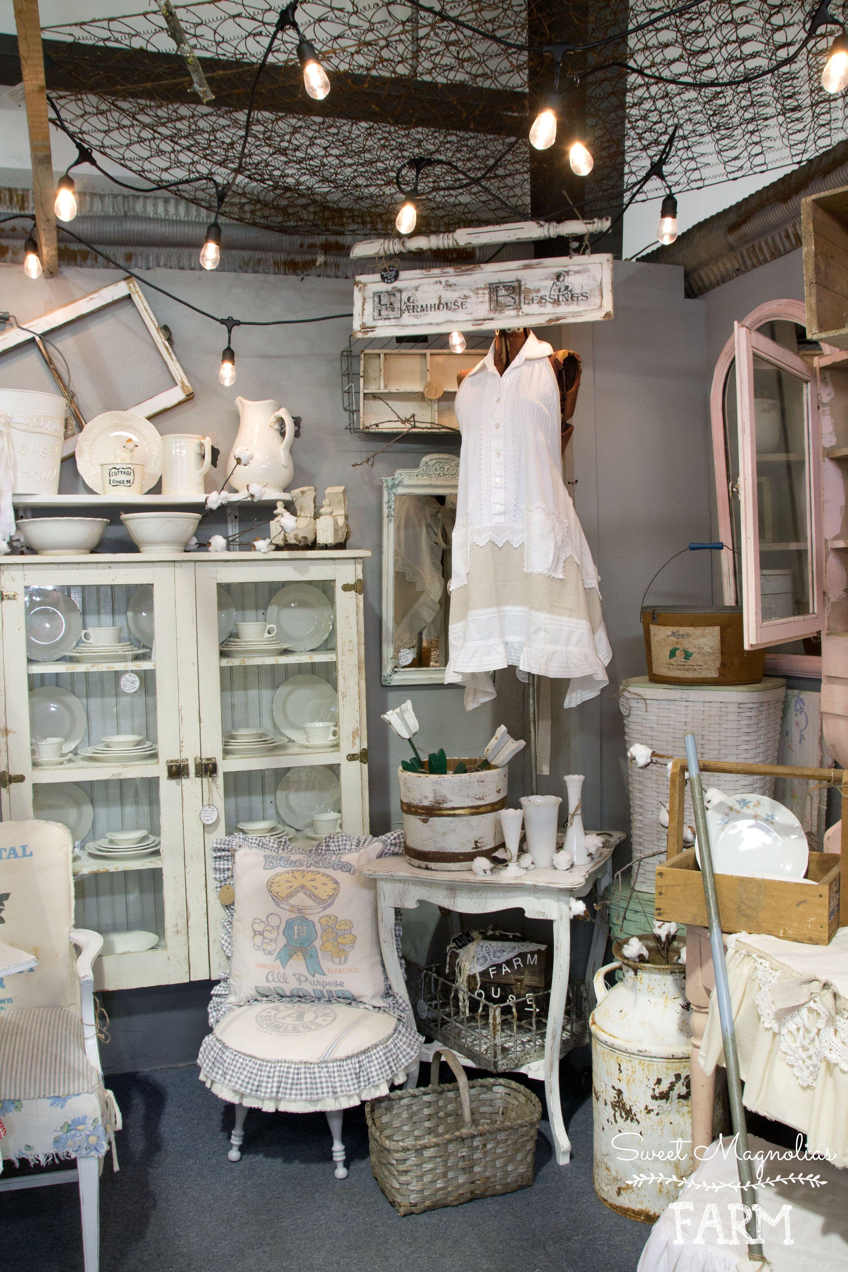 Sweet magnolias farm shop display camp flea antique mall ozark mo