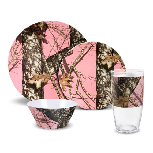 Mossy Oak® Break-Up Infinity 32 Piece  sc 1 st  Pinterest & AWESOME !!!!!! Mossy Oak® Break-Up Infinity 32 Piece Pink Melamine ...