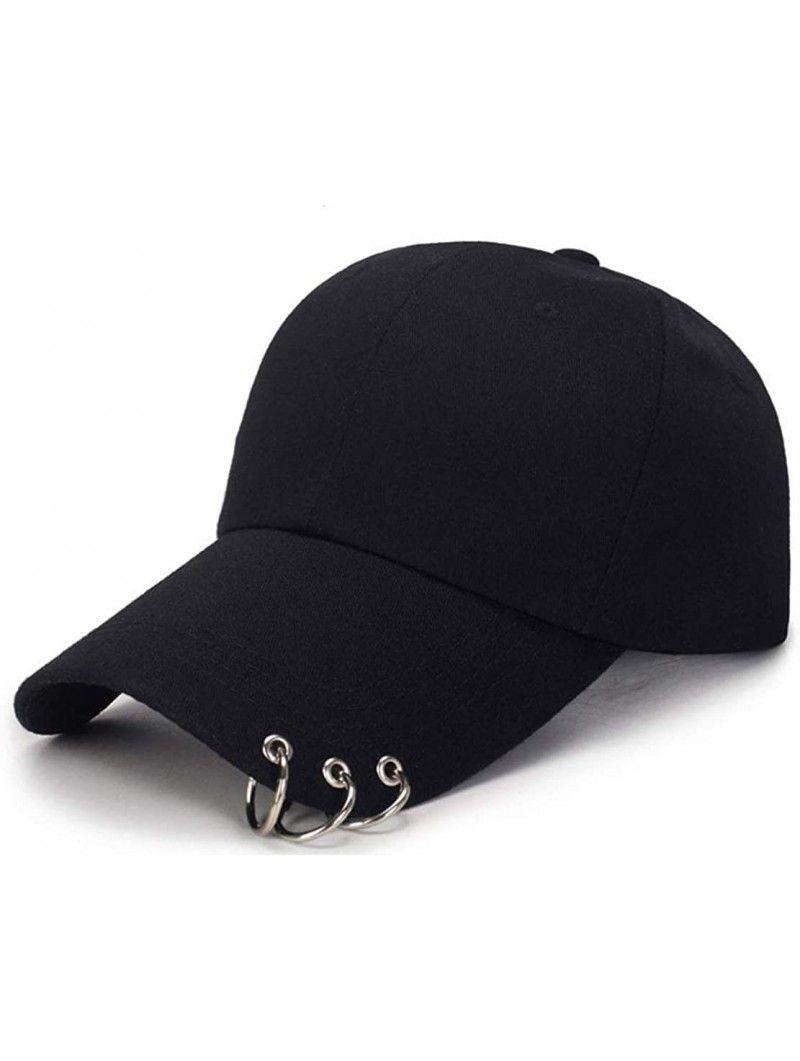 Kpop Hat Ring Baseball Cap Suga Snapback Baseball Cap With Iron Rings Black Cv18oq3t9zo Kpop Hat Black Rings Cap
