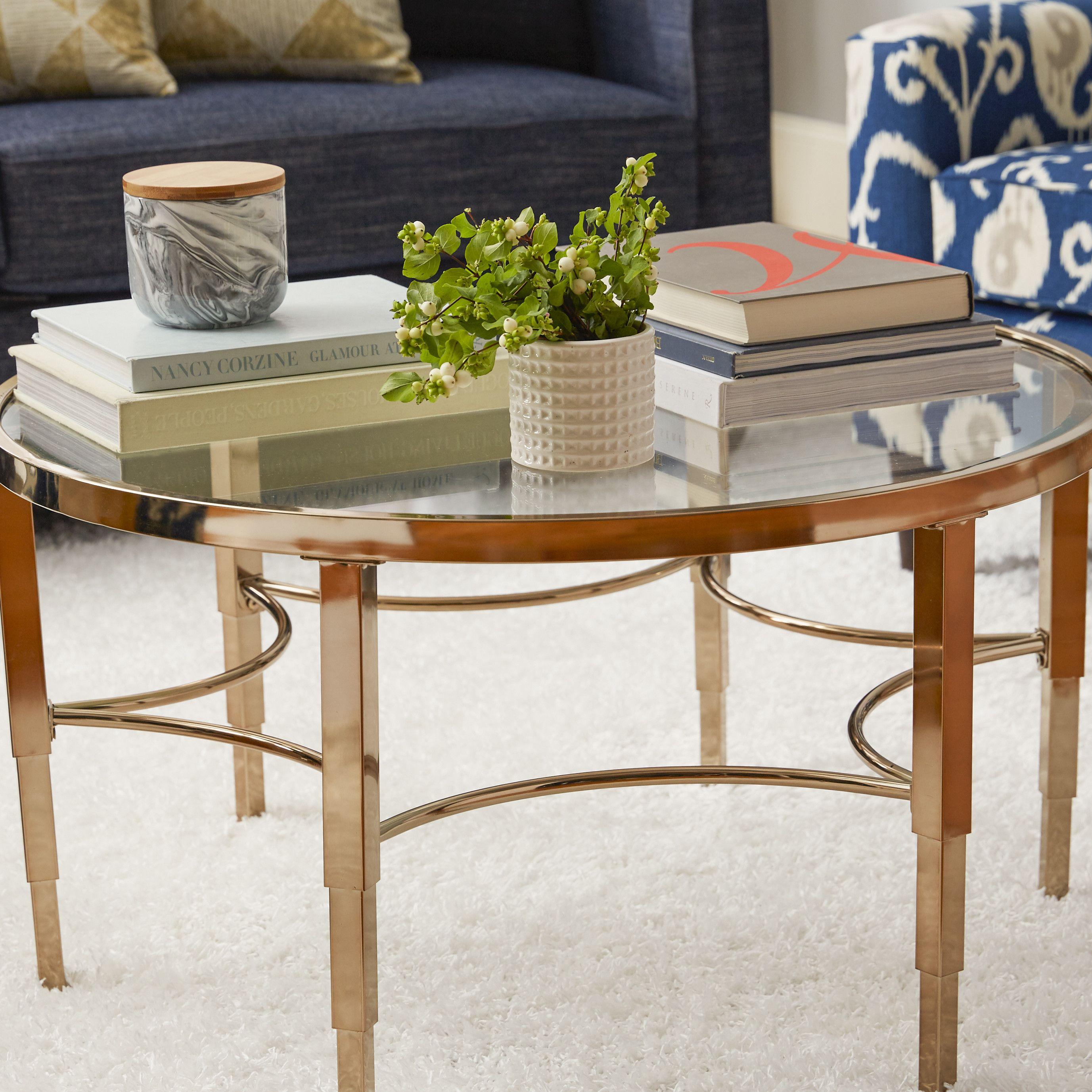 House Of Hampton Hetfield Coffee Table Coffee Table Round Coffee Table Gold Coffee Table [ 2754 x 2754 Pixel ]