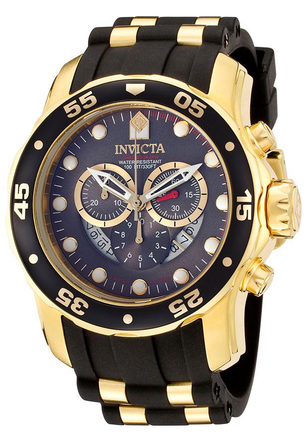 Invicta Men's Pro Diver Chronograph Black Polyurethane Gunmetal Dial - Watch ILE6981ASYB,    #Invicta,    #ILE6981ASYB,    #WatchesLimitedEditionQuartz